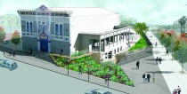 Bayview Opera House, Birds Eye View rendering by Hood Design